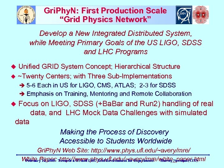 """Gri. Phy. N: First Production Scale """"Grid Physics Network"""" Develop a New Integrated Distributed"""