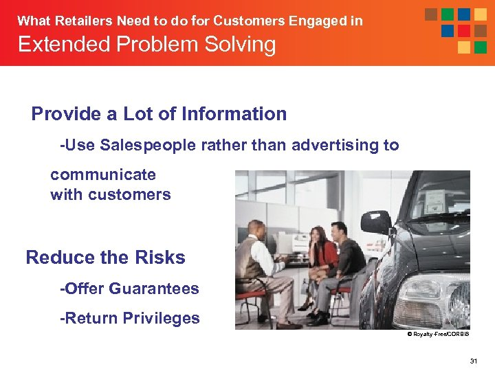 What Retailers Need to do for Customers Engaged in Extended Problem Solving Provide a