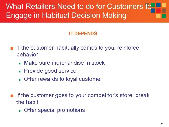 What Retailers Need to do for Customers to Engage in Habitual Decision Making IT