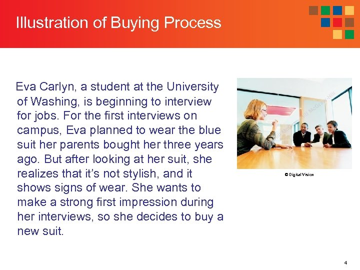 Illustration of Buying Process Eva Carlyn, a student at the University of Washing, is
