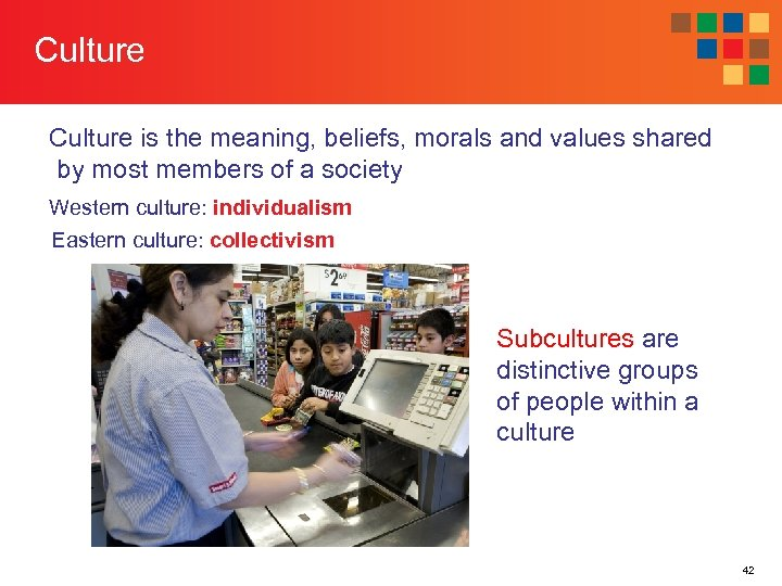 Culture is the meaning, beliefs, morals and values shared by most members of a