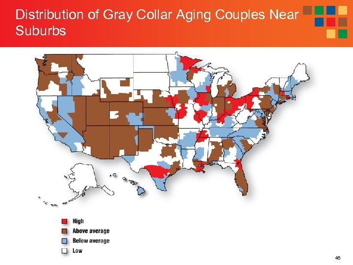 Distribution of Gray Collar Aging Couples Near Suburbs 46