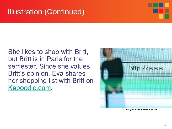 Illustration (Continued) She likes to shop with Britt, but Britt is in Paris for