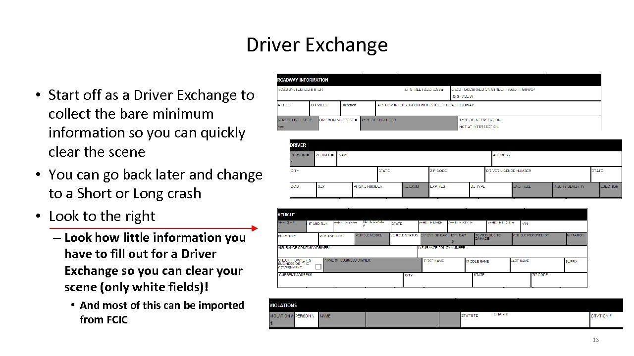 Driver Exchange • Start off as a Driver Exchange to collect the bare minimum