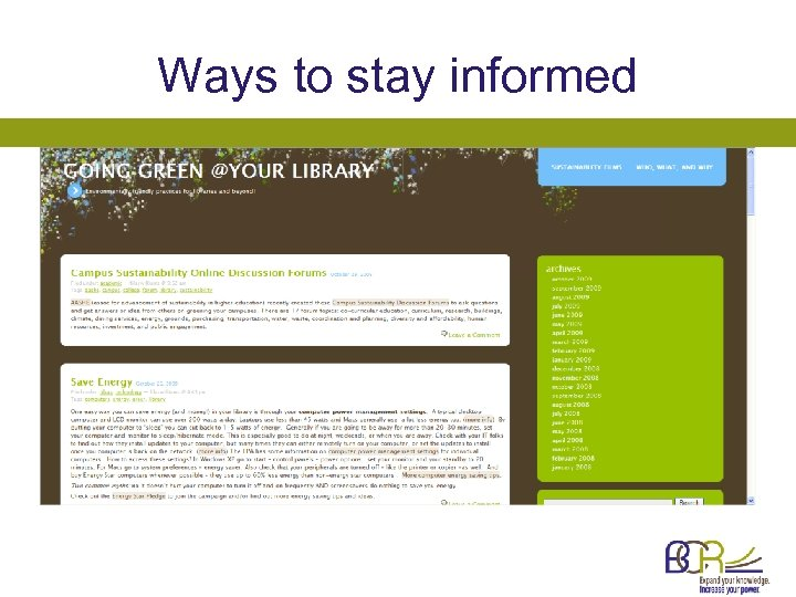 Ways to stay informed
