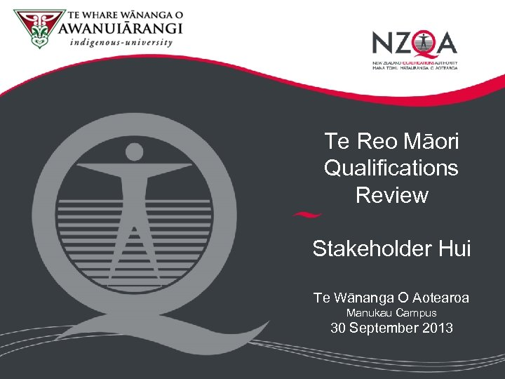 Te Reo Māori Qualifications Review Stakeholder Hui Te Wānanga O Aotearoa Manukau Campus 30