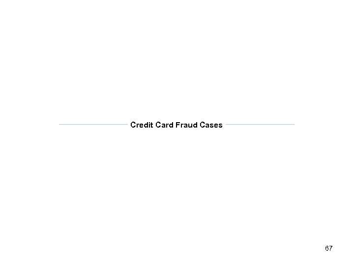 Credit Card Fraud Cases 67