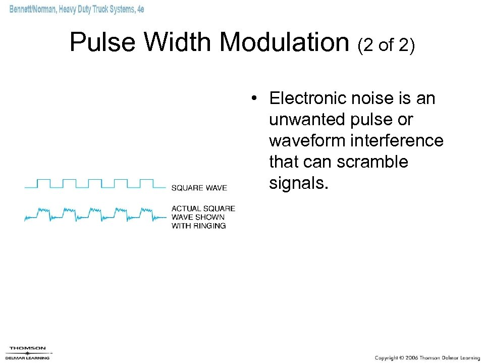 Pulse Width Modulation (2 of 2) • Electronic noise is an unwanted pulse or