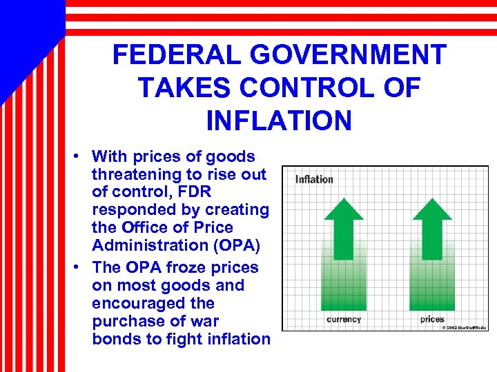 FEDERAL GOVERNMENT TAKES CONTROL OF INFLATION • With prices of goods threatening to rise