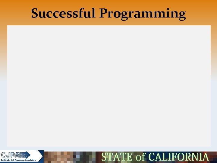 Successful Programming 5/16/2011