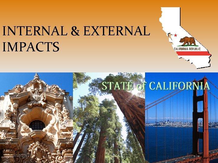 INTERNAL & EXTERNAL IMPACTS 5/16/2011