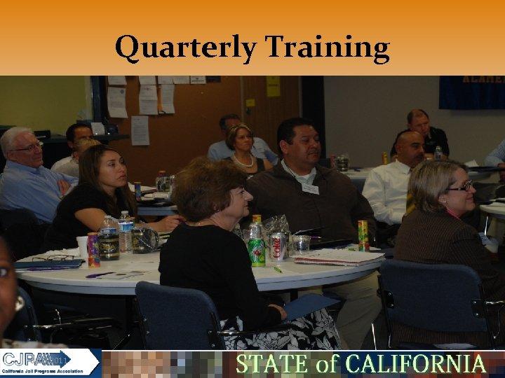 Quarterly Training 5/16/2011
