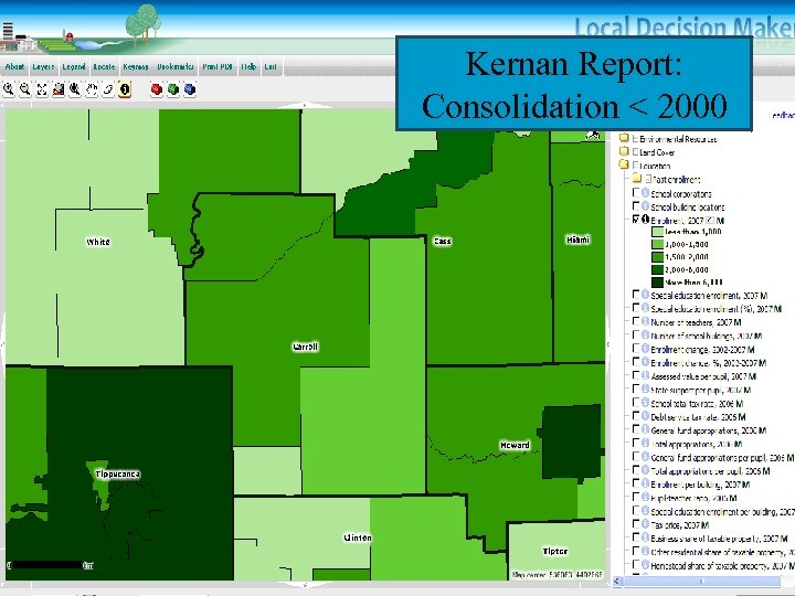 Kernan Report: Consolidation < 2000