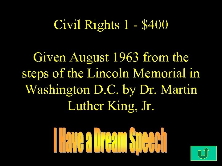 Civil Rights 1 - $400 Given August 1963 from the steps of the Lincoln