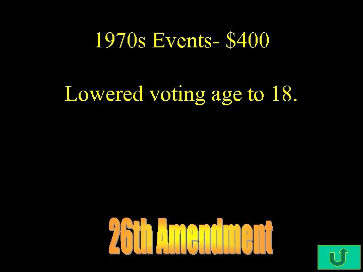 1970 s Events- $400 Lowered voting age to 18.