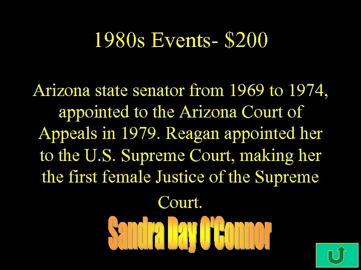1980 s Events- $200 Arizona state senator from 1969 to 1974, appointed to the