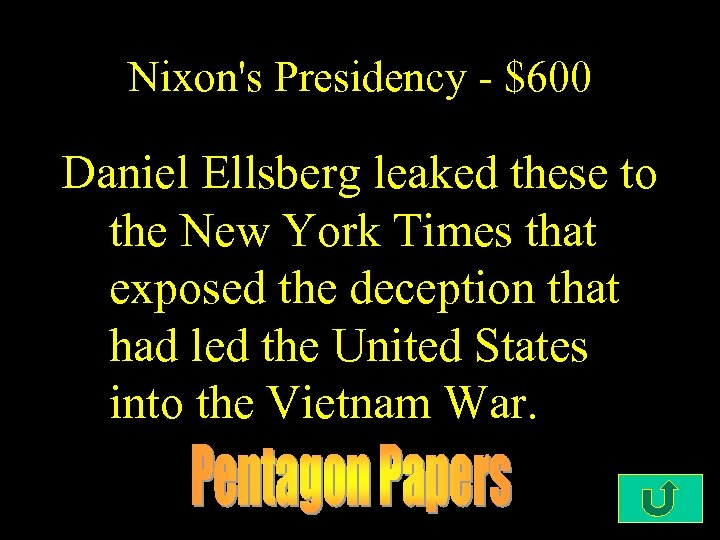Nixon's Presidency - $600 Daniel Ellsberg leaked these to the New York Times that