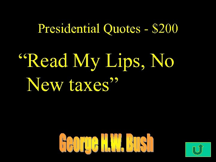 "Presidential Quotes - $200 ""Read My Lips, No New taxes"""