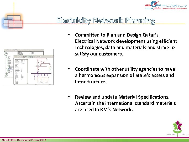 Electricity Network Planning • Committed to Plan and Design Qatar's Electrical Network development using