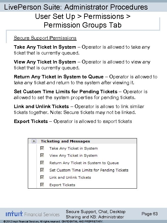 Live. Person Suite: Administrator Procedures User Set Up > Permissions > Permission Groups Tab