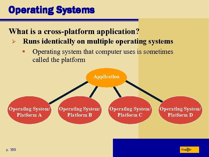 Operating Systems What is a cross-platform application? Ø Runs identically on multiple operating systems