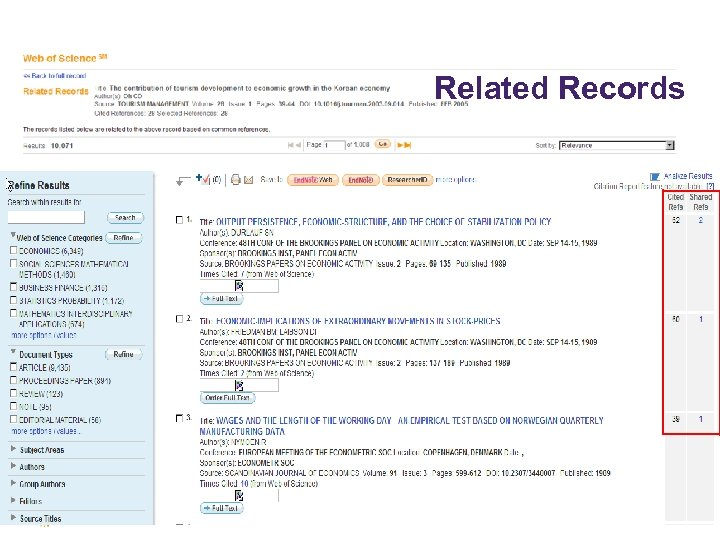 © 2009 Thomson Reuters Related Records