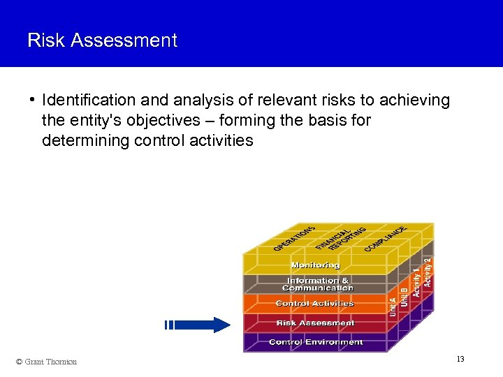 Risk Assessment • Identification and analysis of relevant risks to achieving the entity's objectives