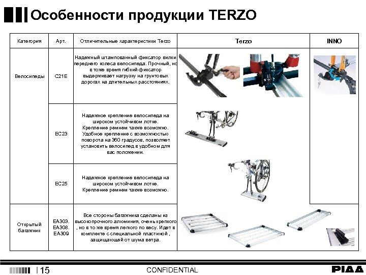 Особенности продукции TERZO Категория Велосипеды Арт. C 21 E Terzo Отличительные характеристики Terzo Надежный