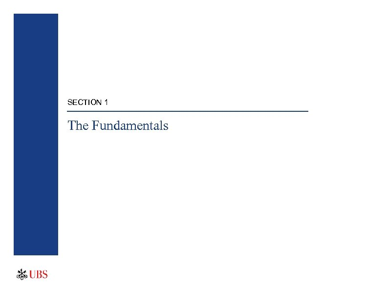 SECTION 1 The Fundamentals