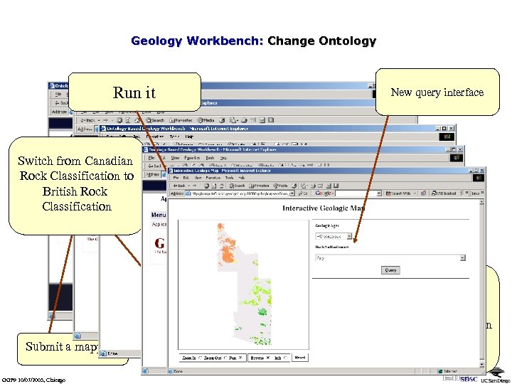 Geology Workbench: Change Ontology Run it New query interface Switch from Canadian Rock Classification