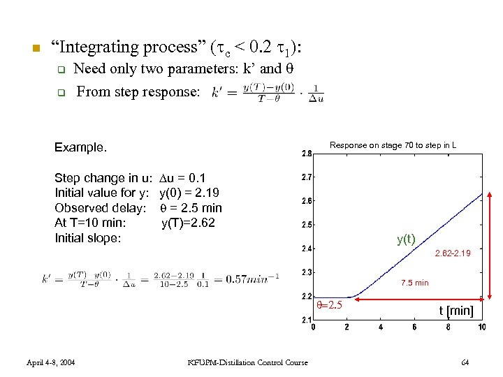 """n """"Integrating process"""" ( c < 0. 2 1): q Need only two parameters:"""