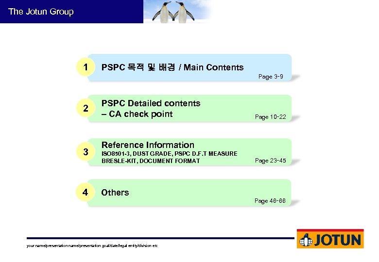 The Jotun Group 1 PSPC 목적 및 배경 / Main Contents Page 3∼ 9
