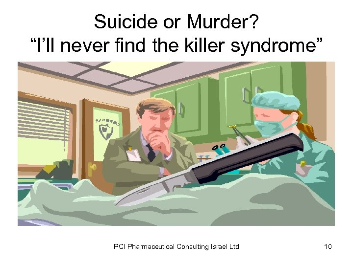 """Suicide or Murder? """"I'll never find the killer syndrome"""" PCI Pharmaceutical Consulting Israel Ltd"""