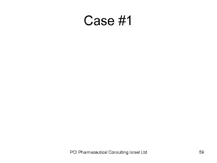 Case #1 PCI Pharmaceutical Consulting Israel Ltd 59