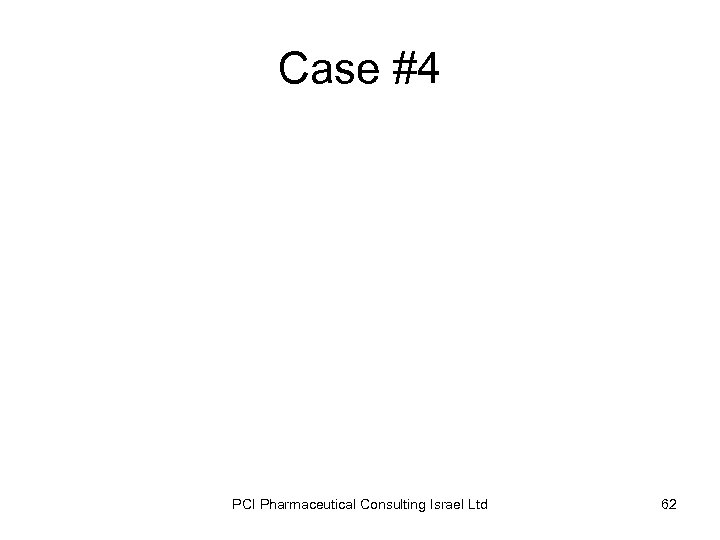 Case #4 PCI Pharmaceutical Consulting Israel Ltd 62