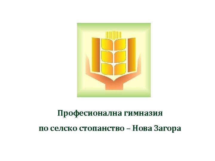 Професионална гимназия по селско стопанство – Нова Загора