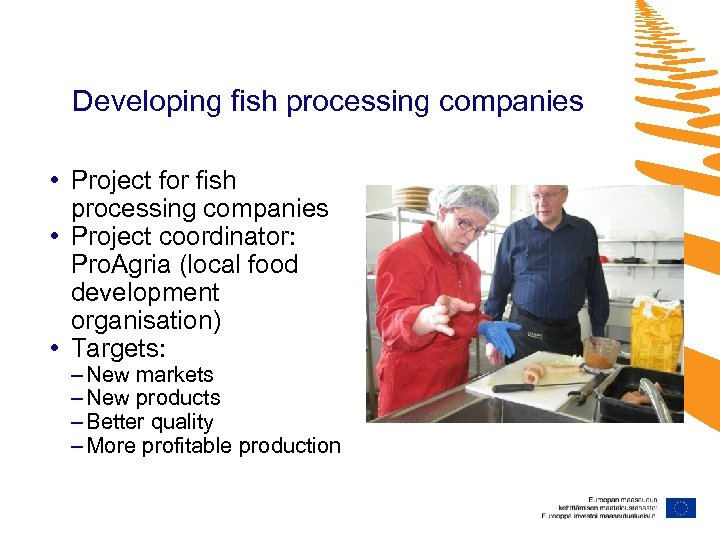 Developing fish processing companies • Project for fish processing companies • Project coordinator: Pro.