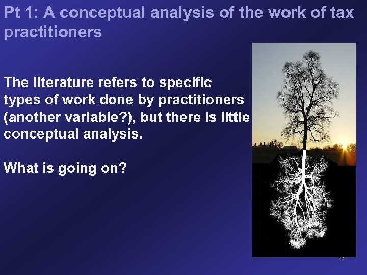 Pt 1: A conceptual analysis of the work of tax practitioners The literature refers