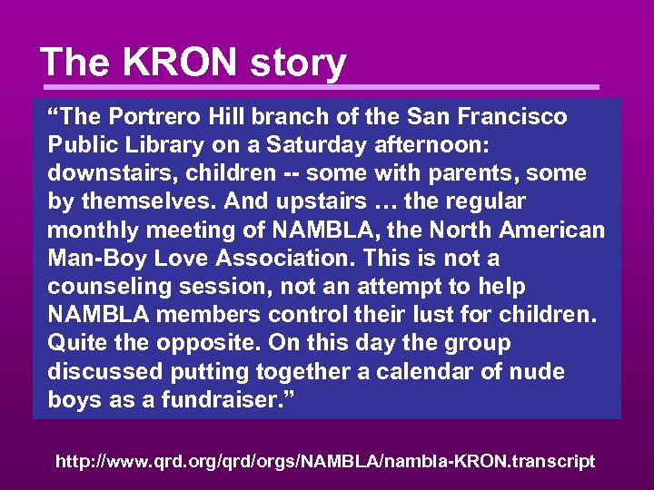 """The KRON story """"The Portrero Hill branch of the San Francisco Public Library on"""