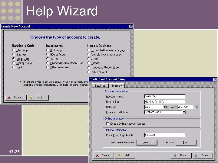 Help Wizard 17 -25