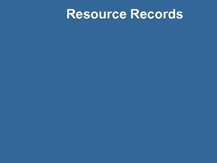 Resource Records