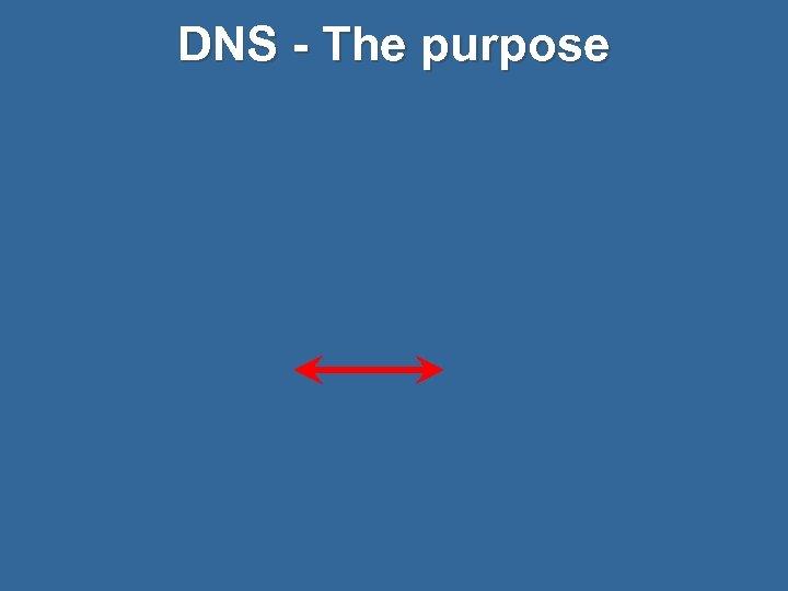 DNS - The purpose