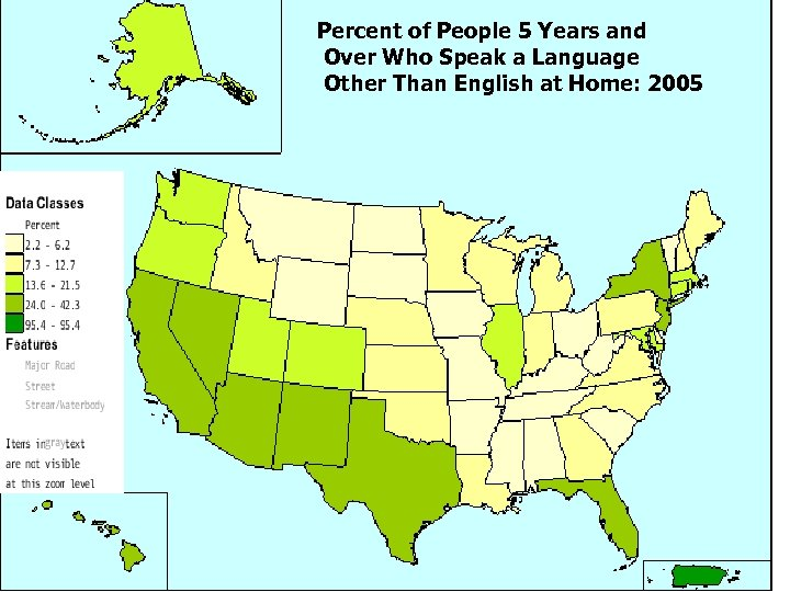 Percent of People 5 Years and Over Who Speak a Language Other Than English