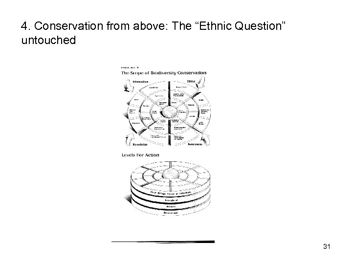 "4. Conservation from above: The ""Ethnic Question"" untouched 31"