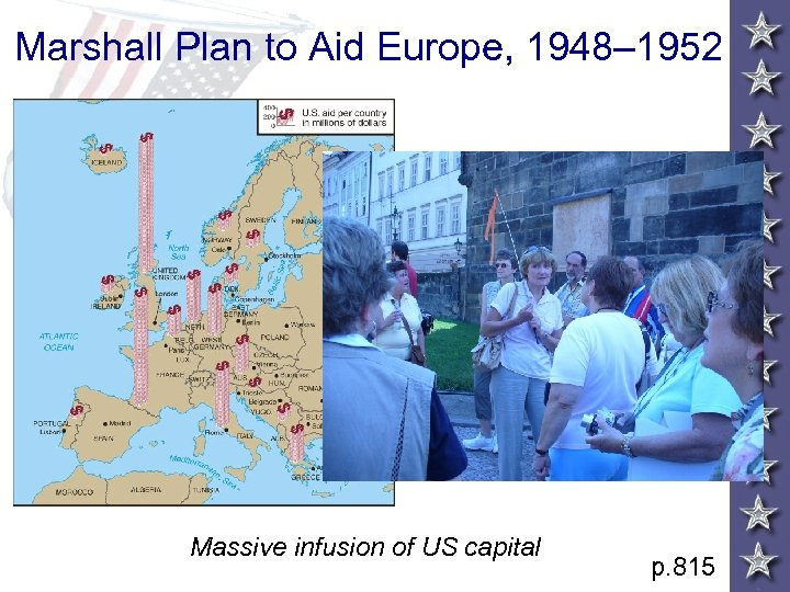 Marshall Plan to Aid Europe, 1948– 1952 Massive infusion of US capital p. 815