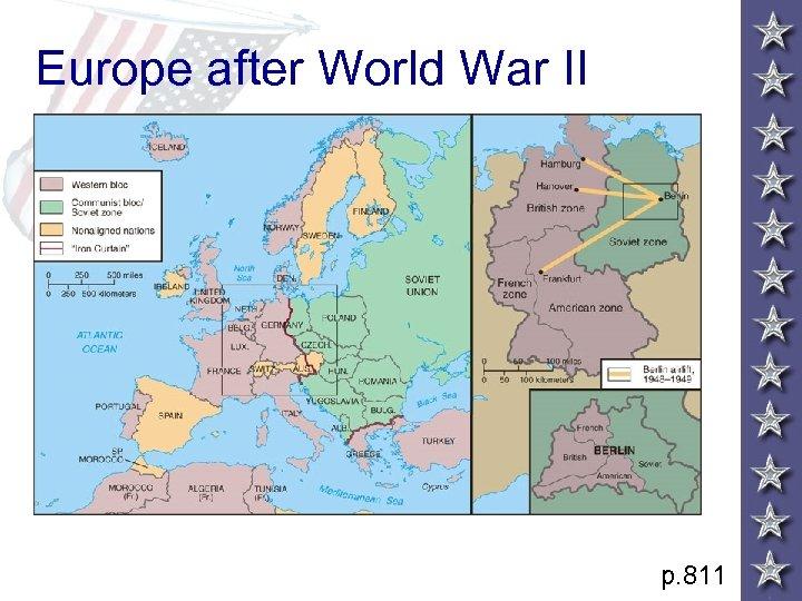 Europe after World War II p. 811