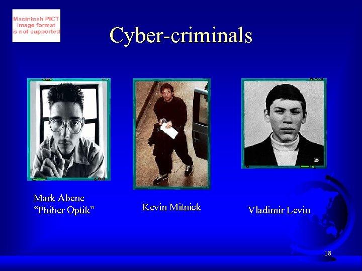 """Cyber-criminals Mark Abene """"Phiber Optik"""" Kevin Mitnick Vladimir Levin 18"""