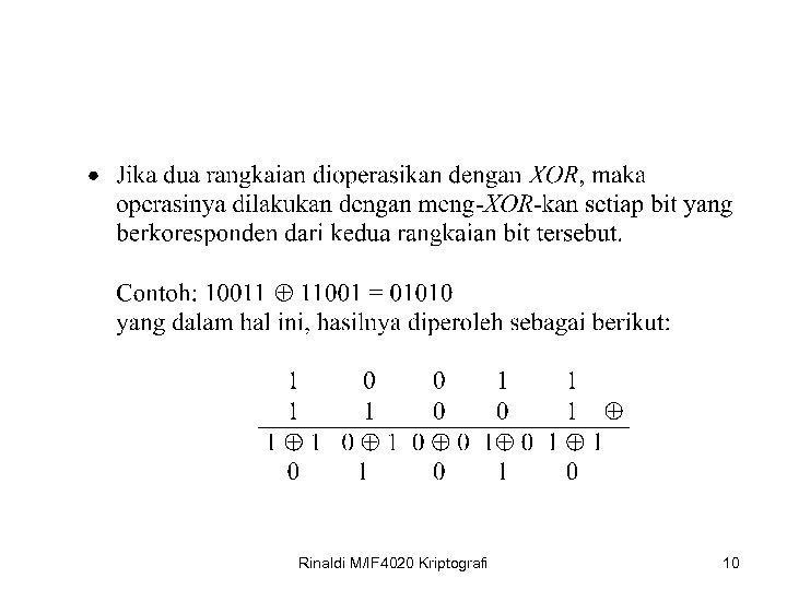 Rinaldi M/IF 4020 Kriptografi 10