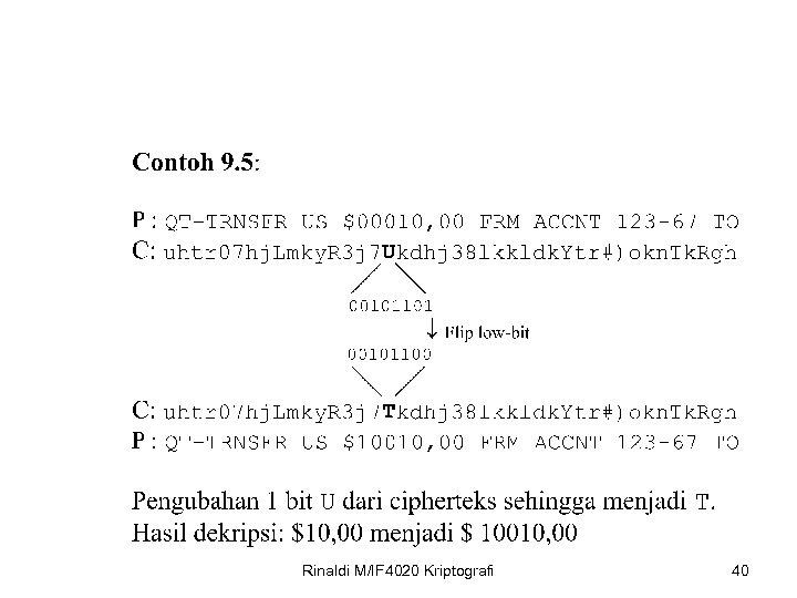 Rinaldi M/IF 4020 Kriptografi 40