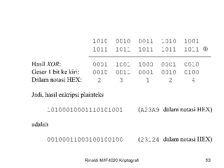 Rinaldi M/IF 4020 Kriptografi 53